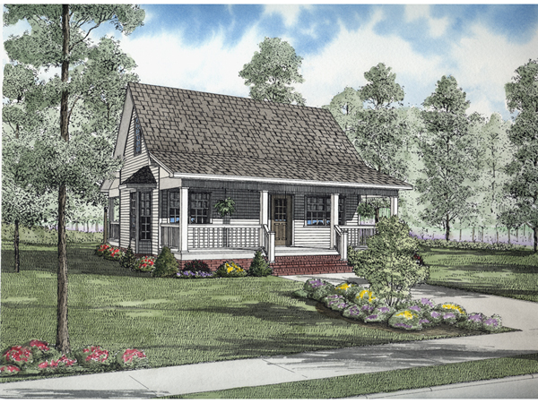 Small cottage plans with porches joy studio design for Country cottage floor plans