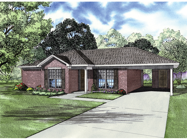 Bolesta traditional ranch home plan 055d 0635 house for Open carport plans