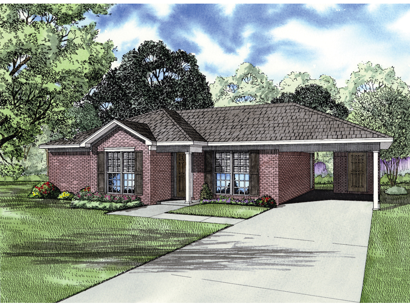 Traditional Brick Ranch Home With Convenient Carport