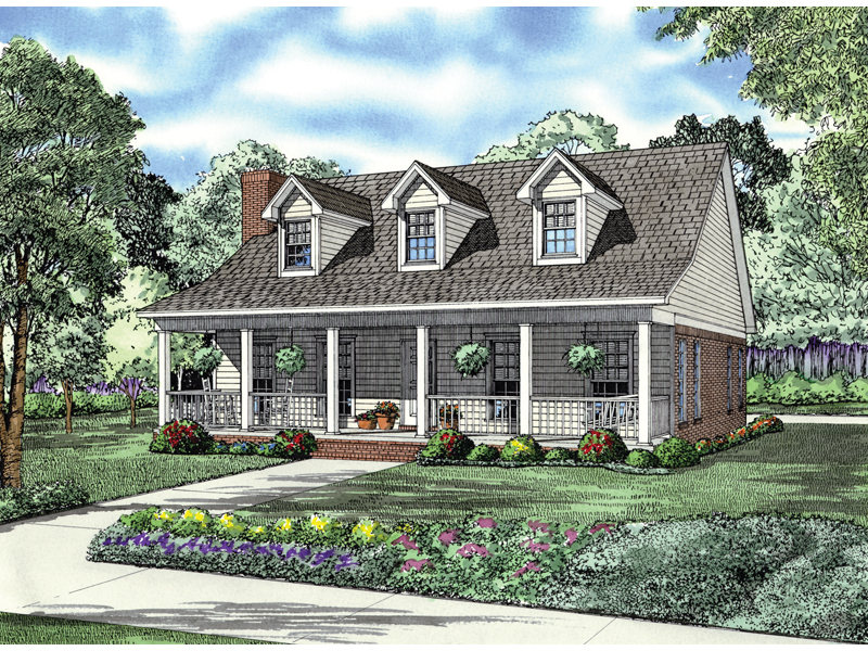 Country Inspired Home With Breezy Covered Porch