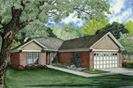 Narrow Lot Traditional Home Has One-Level