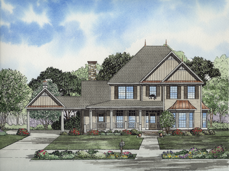 Forest splendor luxury home plan 055d 0653 house plans for Colonial luxury house plans
