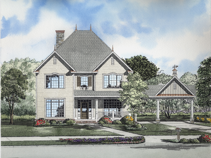 Gastineau Victorian Country Home Plan 055d 0655 House