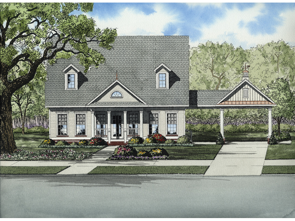 Sunset pointe colonial home plan 055d 0667 house plans for Sunset house plans
