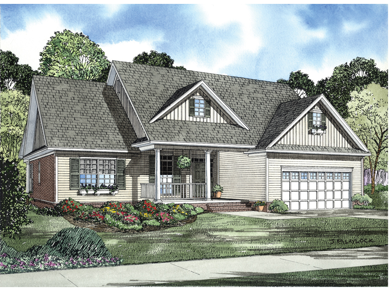 Country Inspired Ranch Home With Varied Siding Styles