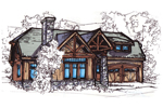 Stone Details Outfit This Rustic Log House