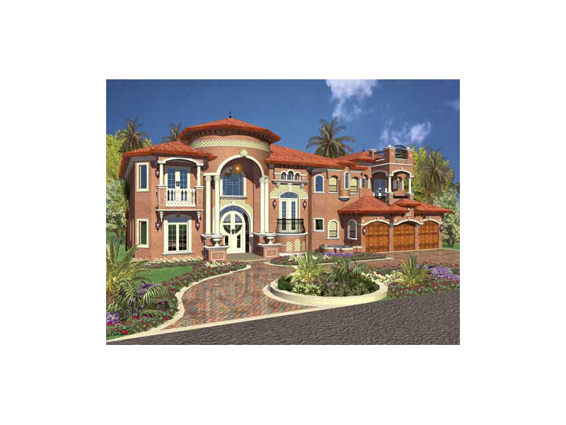 Mediterranean House Plan Front of Home 055D-0715