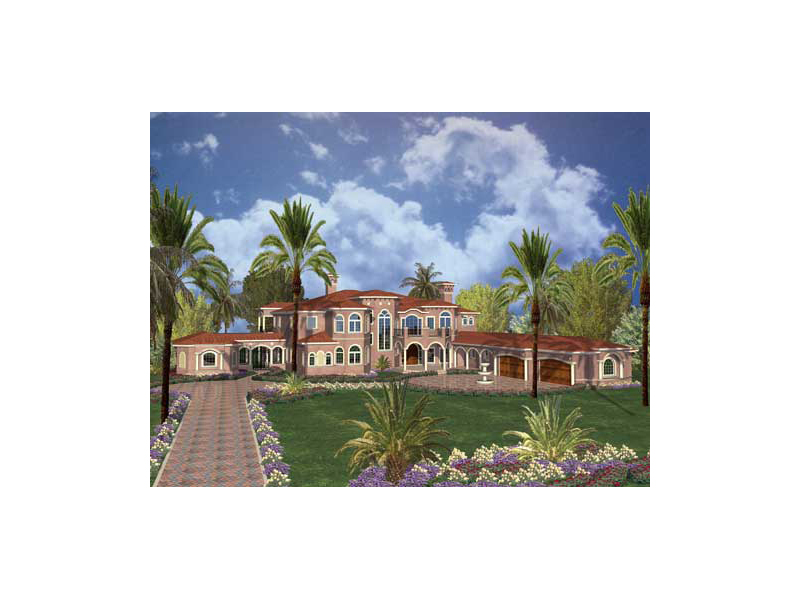 Mediterranean House Plan Front of Home 055D-0720