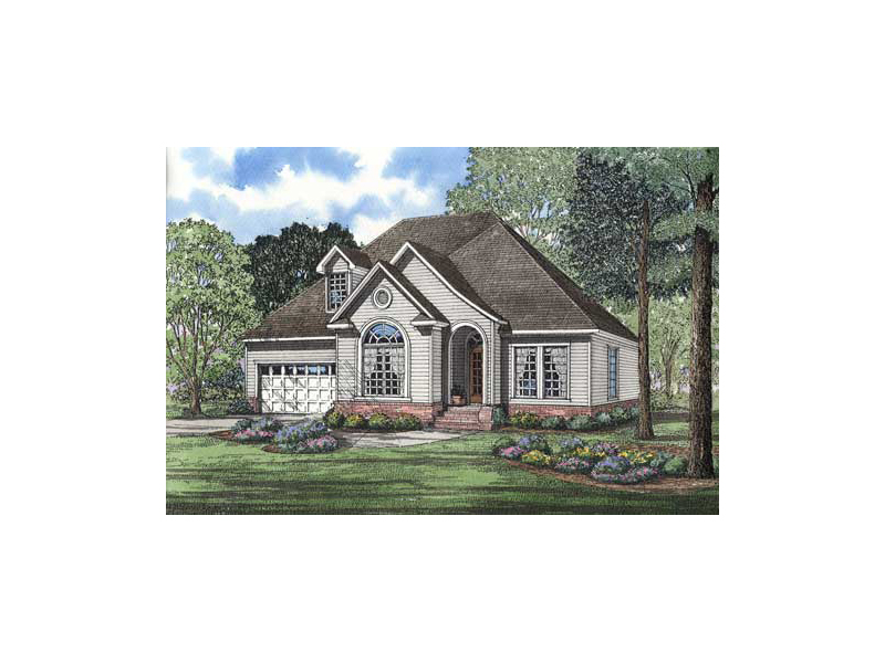 Country Style Home With Inviting Arch Entrance