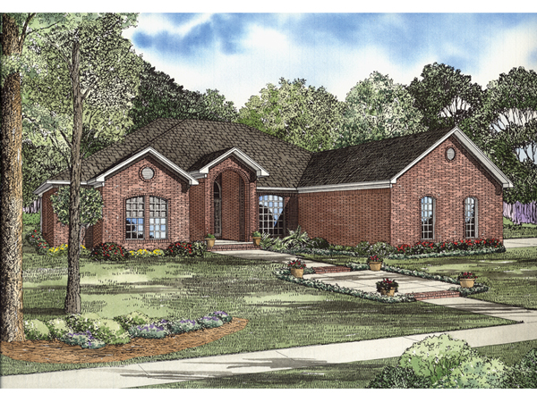 Ranch brick house plans home design and style for Brick ranch home plans