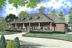 Ranch House With Dramatic Columns And Roof Dormers