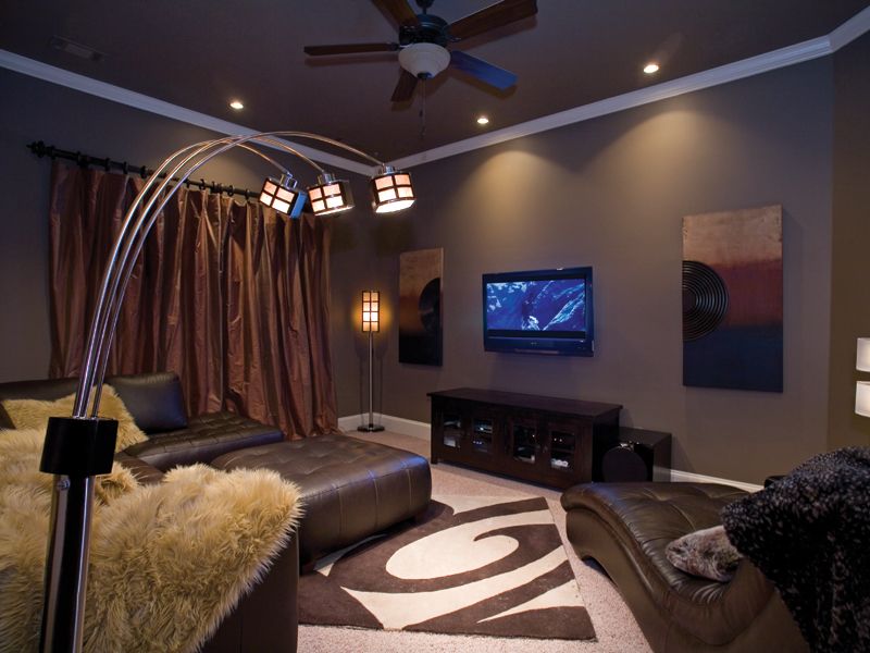 Traditional House Plan Theater Room Photo 01 055D-0748