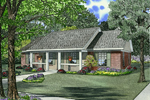 Casual Country Ranch House With Covered Porch