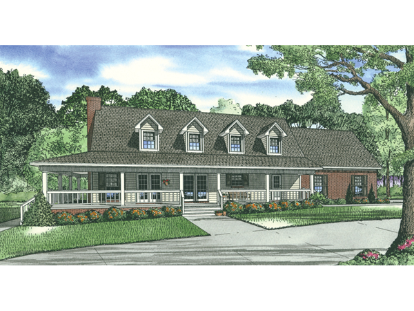 calgary bluff cape cod home plan 055d-0761 | house plans and more