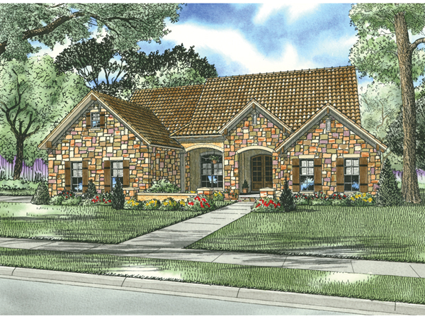 Montreaux rustic home plan 055d 0782 house plans and more for Tuscan house plan
