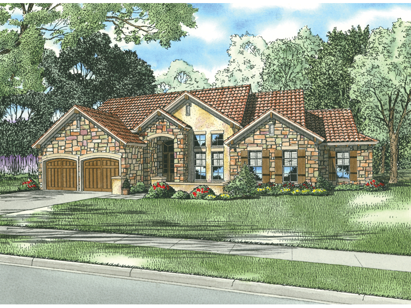 Sunbelt Home Plan Front of Home - 055D-0783 | House Plans and More
