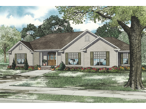 Biltmore Way Country Ranch Home Plan 055d 0799 House