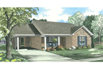 Brick Ranch Offers Covered Front Porch And Carport