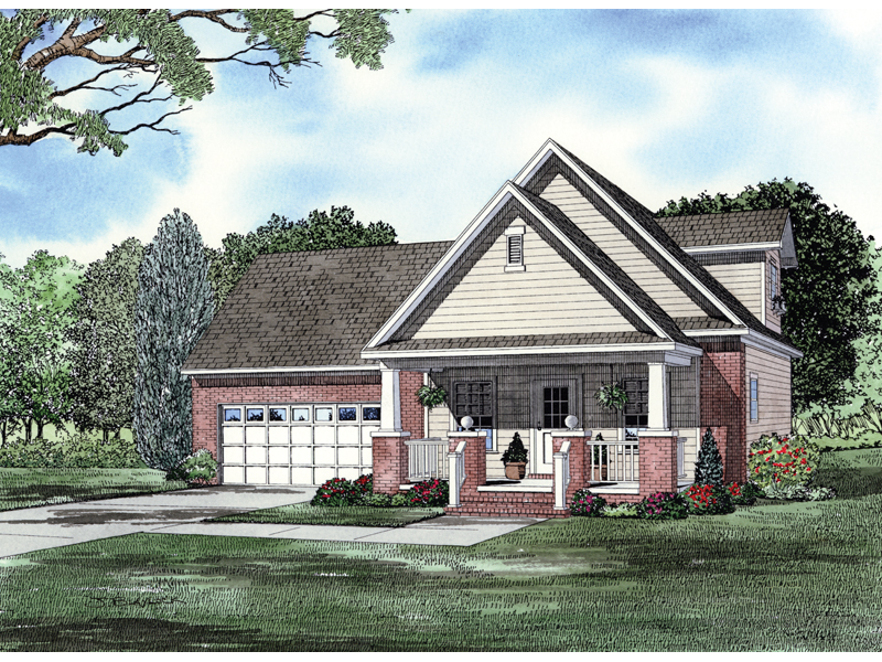Two-Story Country Home With Deep Covered Front Porch