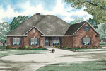 Spacious Brick Traditonal Home With Three-Car Side Entry Garage