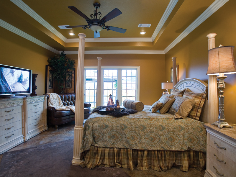 European House Plan Master Bedroom Photo 01 055D-0817