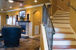 Tudor House Plan Stairs Photo - 055D-0817 | House Plans and More