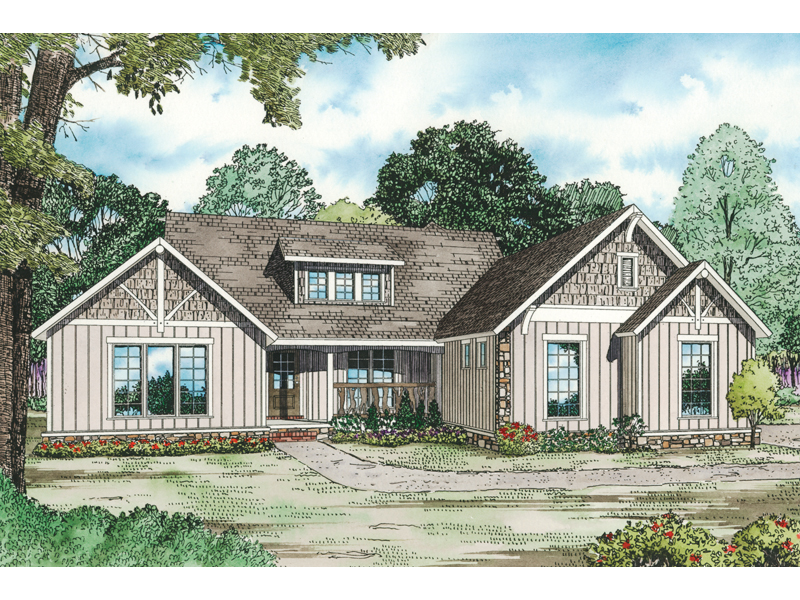 canyon creek rustic ranch home house plan