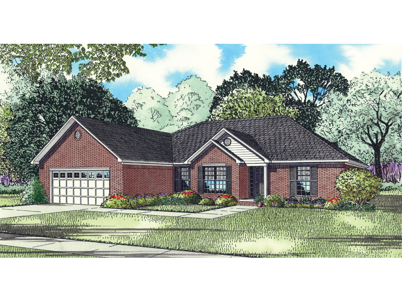 Traditional House Plan Front of Home - 055D-0842 | House Plans and More