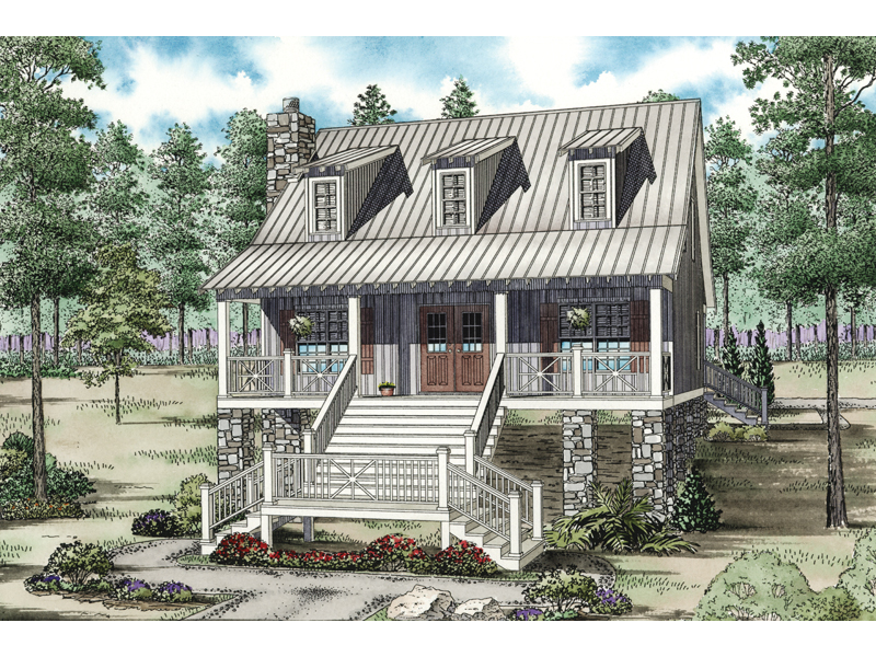 Cabin and Cottage Plan Front of Home - 055D-0846 | House Plans and More
