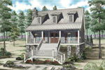 Vacation Home Plan Front of Home - 055D-0846 | House Plans and More