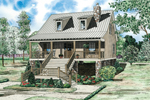 Cabin and Cottage Plan Front of Home - 055D-0848 | House Plans and More