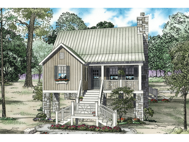 Cabin & Cottage House Plan Front of Home - 055D-0849 | House Plans and More