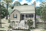 Waterfront Home Plan Front of Home - 055D-0849 | House Plans and More