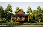 Vacation House Plan Front of Home - 055D-0850 | House Plans and More