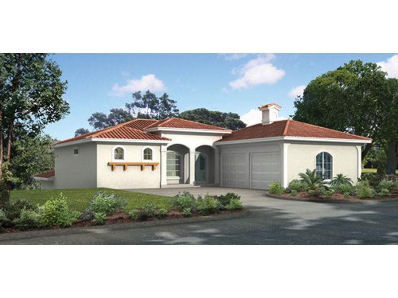 Spanish Style Stucco Home Is Perfect For Sunbelt