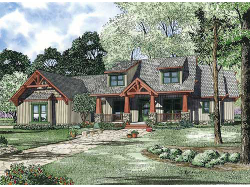 Dormered House Plan With Craftsman Woodwork