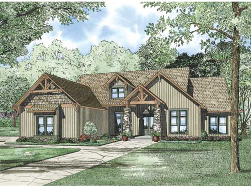 rustic home plan front of home 055d 0860 house plans and more forestland craftsman ranch - Craftsman Ranch Home Exterior