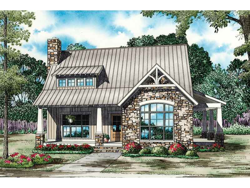 Mountain Home Plan Front of Home - 055D-0862 | House Plans and More
