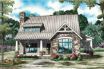 Cabin and Cottage Plan Front of Home - 055D-0862 | House Plans and More