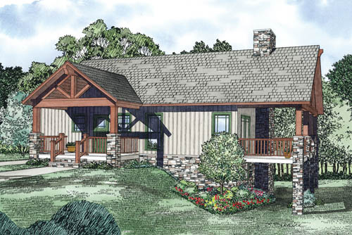 Ranch House Plan Front of Home - 055D-0863 | House Plans and More