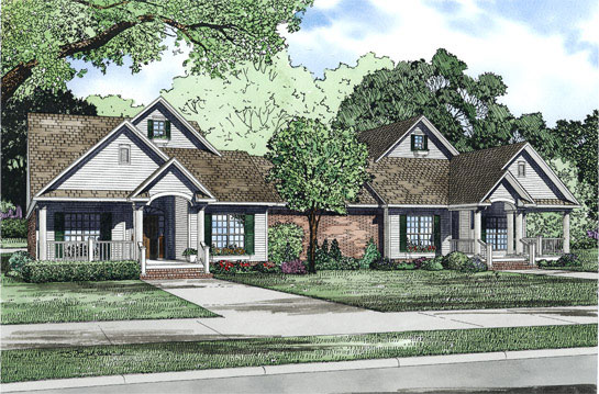 Traditional House Plan Front of Home 055D-0865
