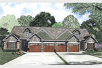 Multi-Family House Plan Front of Home - 055D-0866 | House Plans and More