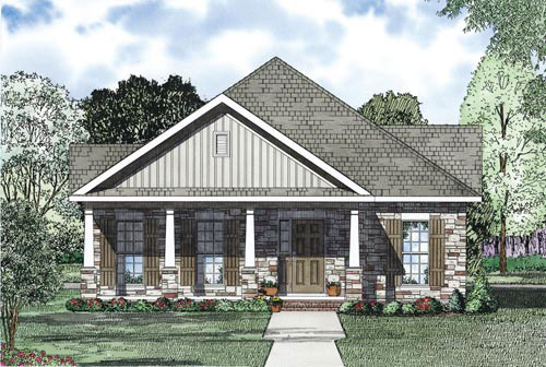 Craftsman House Plan Front Image - 055D-0867 | House Plans and More