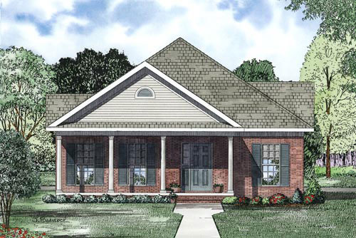 Craftsman House Plan Front of Home - 055D-0867 | House Plans and More