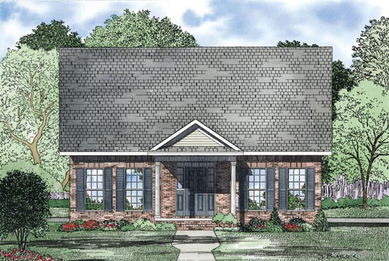 Traditional House Plan Front of Home - 055D-0868 | House Plans and More