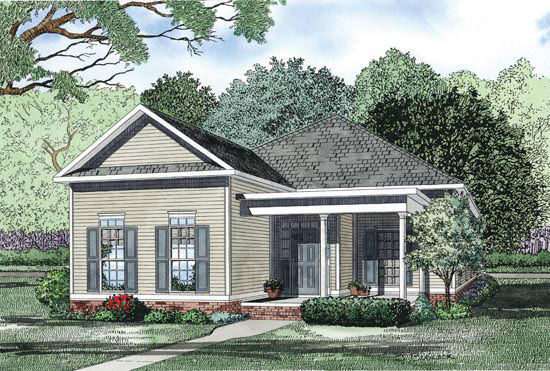 Ranch House Plan Front Image - 055D-0869 | House Plans and More