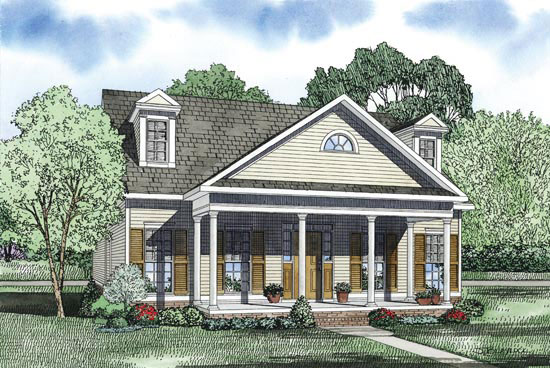 Farmhouse Plan Front Image - 055D-0870 | House Plans and More