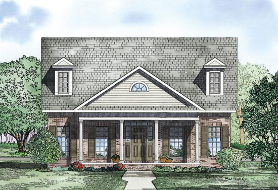 Farmhouse Plan Front of Home - 055D-0870 | House Plans and More