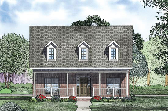Farmhouse Plan Front Image - 055D-0871 | House Plans and More