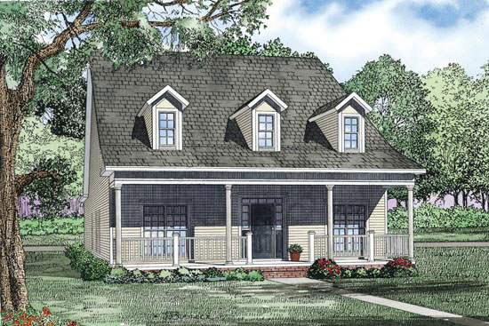 Country House Plan Front of Home - 055D-0871 | House Plans and More
